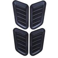 1 пара Универсальный Автомобильный стикер ABS декоративный воздушный поток Впускной капот вентиляционная Крышка Капота