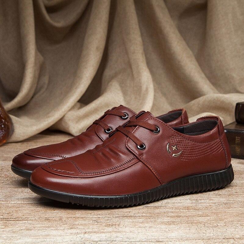 Casual Top Chaussures Low De Unique En Fine Ceinture Loisirs noir Brown Hommes Cuir 6603 Nouvelle Mode Rzqc1H8WOA