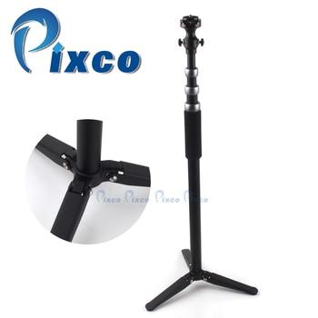 Pixco Photography accessories professional unipod retractable Monopod Leg 1/4' Tripod Head + Quick Release Plate silver