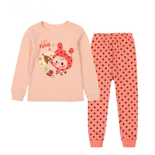 Lovely Cartoon Themed Pink Cotton Baby Girl's Pajamas