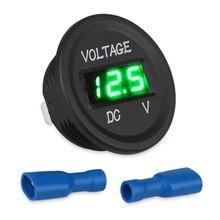 Motorcycle Voltmeter Gauge Led-Display Marine Waterproof for Car Blue Dc12v-24v