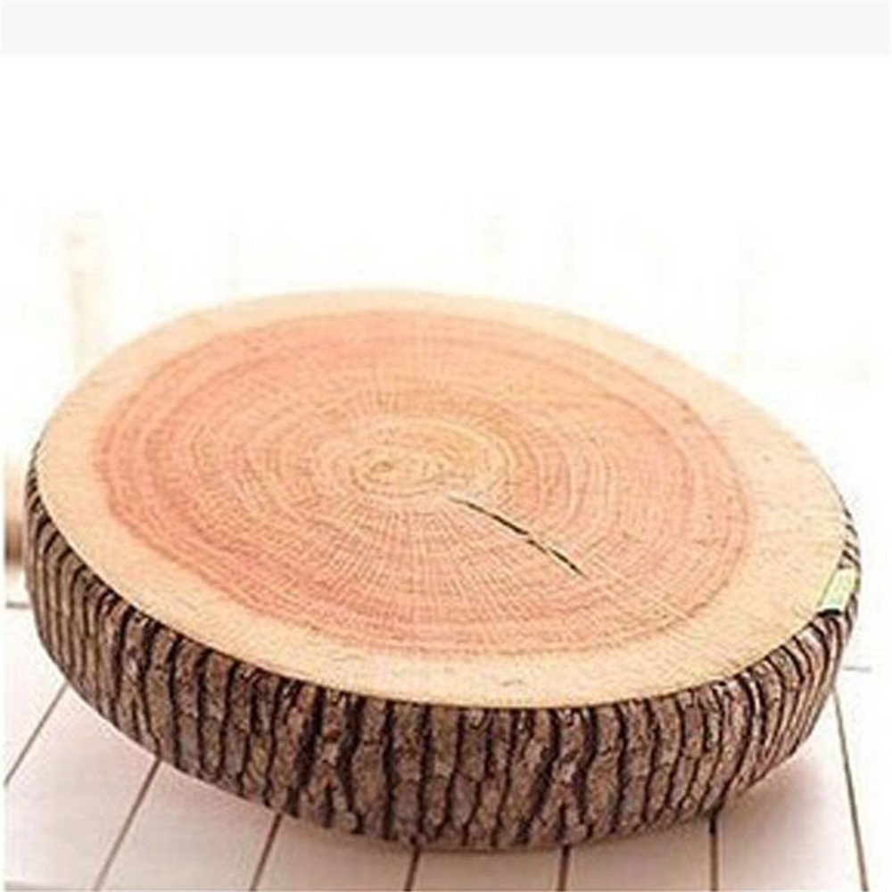 1pcs 37x17cm Natural Woods Design Round Soft Chair Cushion Comfy Pillows Wood Throw Pillow Pads Gift Home For Children In Decorative From