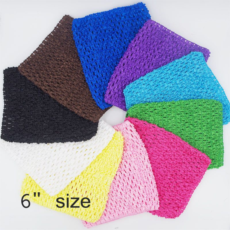 Waffle Crochet Tutu Tube Tops Kids Girl Chest Wrap Children Headband Baby  Accessories DIY Polyester Knit Elastic 15 15cm 6inches 566631d88e9
