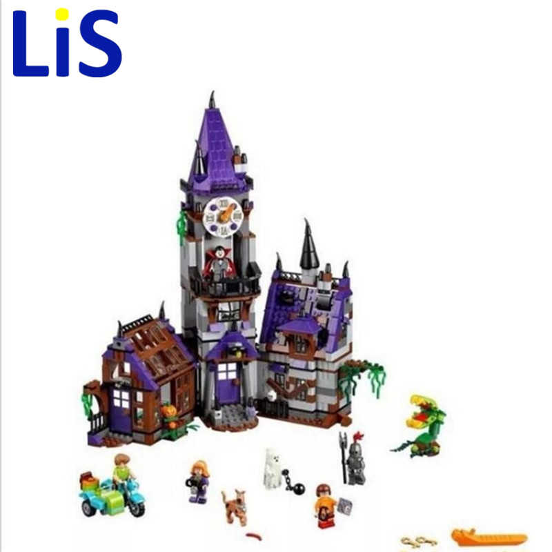 (Lis)10432 10431 Scooby Doo Mysterious Ghost House Building Block 10432 scooby doo mysterious ghost house 860pcs building block toys compatible legoingly 75904 blocks for children gift
