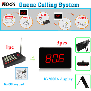 Customer queue pager system 1 transmitter K-999 with 3 screen K-2000A used in the hospital/clinic/restaurant