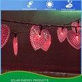 Солнечное жемчужное сердце 30LED струна наружное водонепроницаемое декоративное праздничное освещение