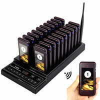 TIVDIO 20 Call Coaster Pager Restaurant Wireless Pager Queuing System Call Button Pager 999 Channel Restaurant