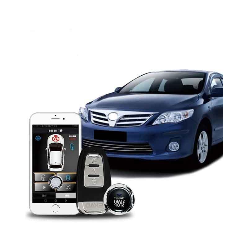 Système d'alarme de voiture démarrage automatique accessoires de voiture starline magicar démarrage bouton d'arrêt verrouillage central système d'entrée sans clé démarrage à distance