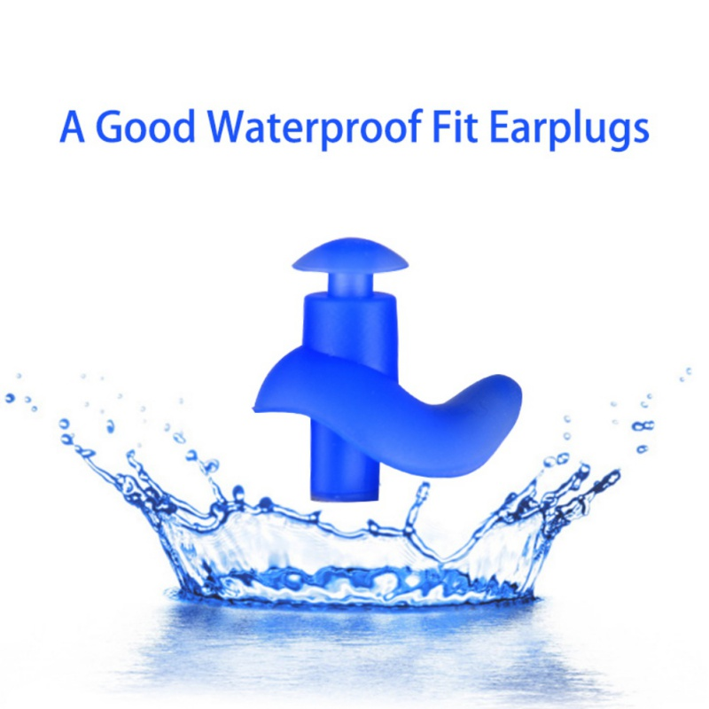 1 Pair Hot Waterproof Swimming Professional Silicone Swim Earplugs for Adult Swimmers Ch ...