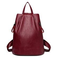 2017 искусственная кожа рюкзак женские рюкзаки для девочек-подростков школьные сумки черные летние брендовые винтажные Рюкзак Mochila Mujer F93
