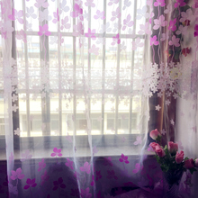 Fashion style Custom made and finished curtain custom window tulle curtain for living room bedroom Window screening