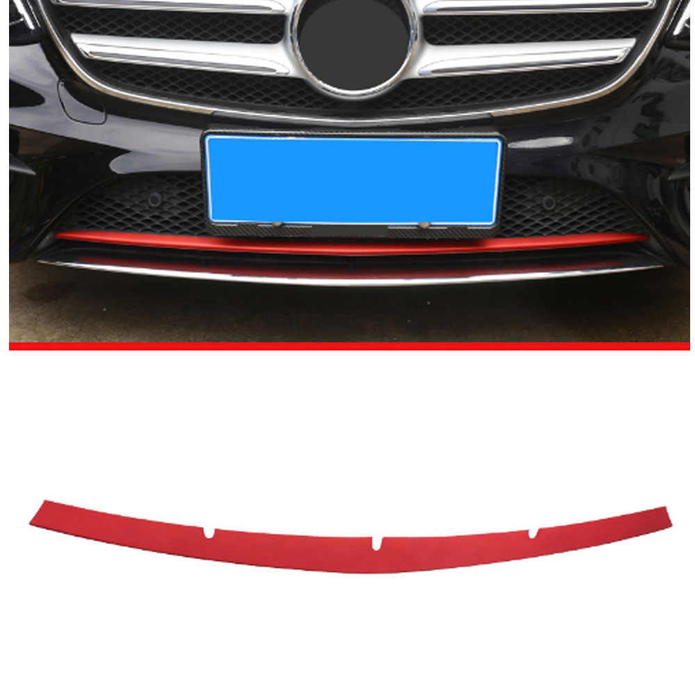 ABS Plastic Front Bottom Grill Grid Grille Cover Trim For Mercedes Benz W213 E Class 2016 2017 Car Accessories стоимость