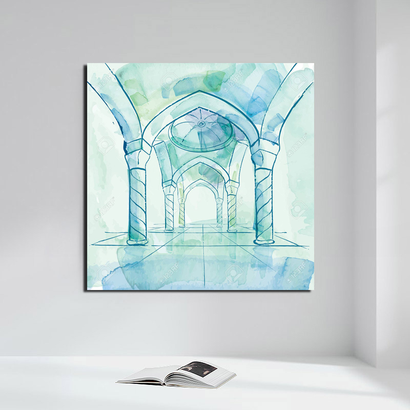 Islamic Design Background Vector Canvas Painting Posters Prints Marble Wall Art Painting Decorative Picture Modern Home Decor HD in Painting Calligraphy from Home Garden