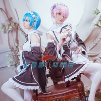 2016 Anime Re Zero Life In A Different World From Zero Rem Ram Cosplay Costume Maid