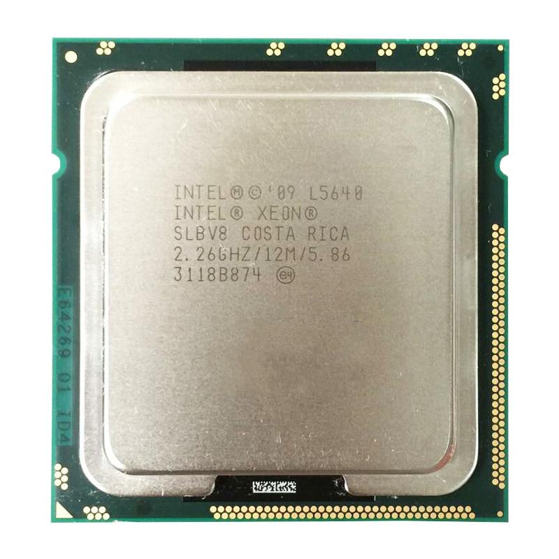 Intel Xeon  L5640 12M Cache, 2.26 GHz, 5.86 GT/s Intel QPI 60W LGA1366 5640 Desktop CPU Processor