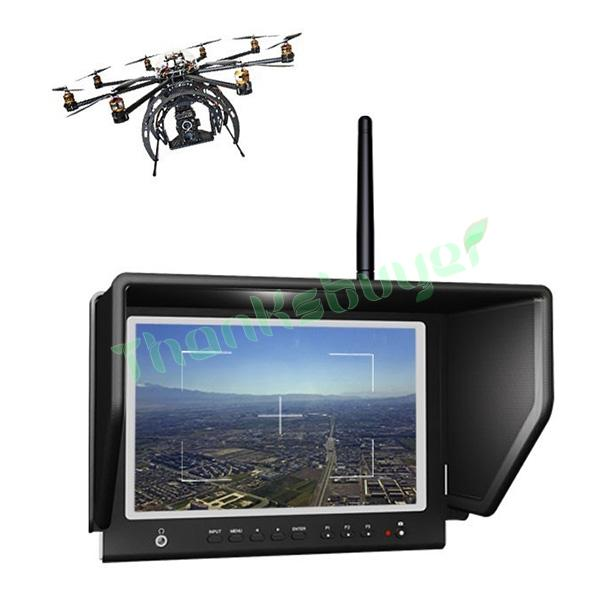 Lilliput 7 664/W LED FPV Aerial Photography Monitor 5.8GHz Wireless Receiver for Canon MARK 5D II III