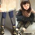 Calças do bebê roupas de primavera 2016 das crianças criança calças básicas calças skinny leggings