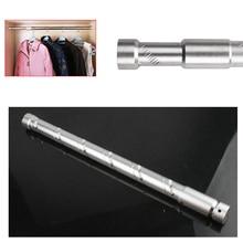 Aluminium alloy carved telescopic wardrobe hanging rod minimum adjust length 55cm maximum 100cm easy install