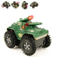Военный автомобиль модель не RC автомобиль флип трюк детские игрушки для детей мини-небольшой броневик Juguetes Brinquedos подарок на день ребенка иг...