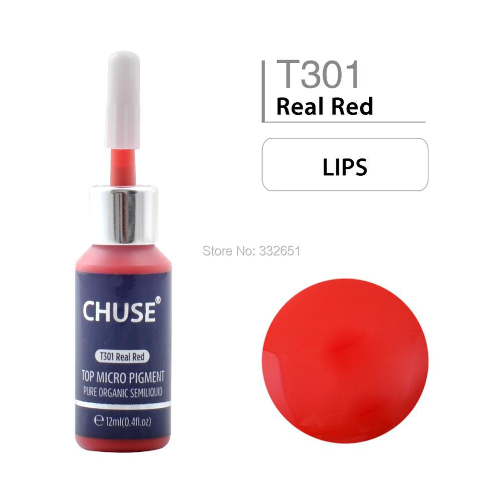 CHUSE Microblading Micro Pigment Permanent Makeup Tattoo Ink T301 Cosmetic Color Passed SGS,RoHs DermaTest 12ml (0.4fl.ozCHUSE Microblading Micro Pigment Permanent Makeup Tattoo Ink T301 Cosmetic Color Passed SGS,RoHs DermaTest 12ml (0.4fl.oz