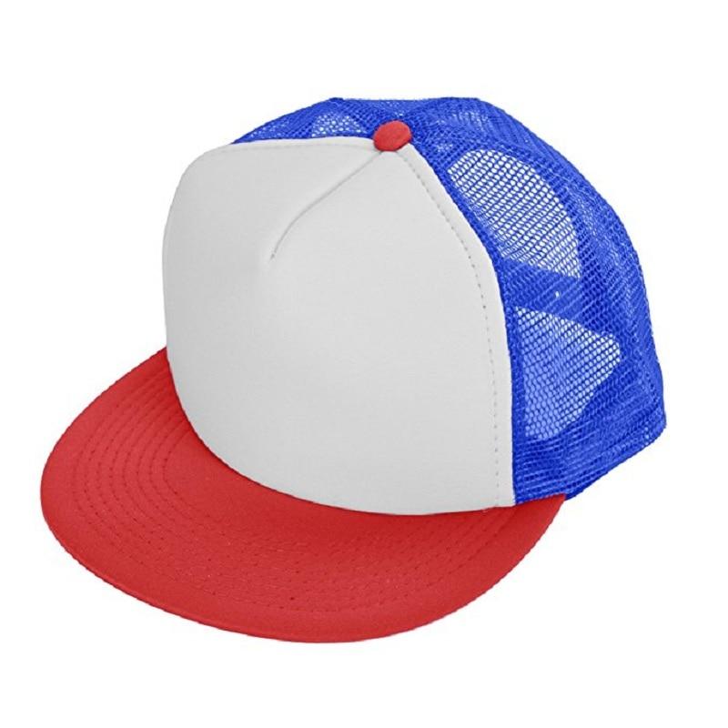 a710e9c28a0 Children s Cap Stranger Things Cap Summer Baseball Mesh Cap Adjustable  Snapback Net Trucker Hat Unisex Cosplay Boys Girls Hat