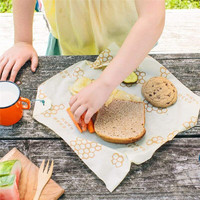 Многоразовые органические хлопчатобумажные тканевые ручки уплотнение сохранение продуктов в свежем состоянии обертывание крышки стрейч ...