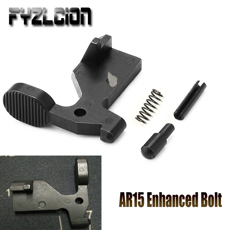 Detent-Pin Bolt Catch Enhanced Rifle-Accessory AR15 Extra-Wide-Lever .223 Airsoft