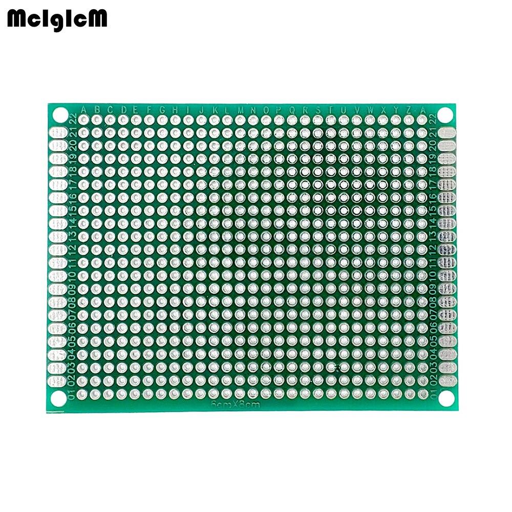 6*8 6X8cm Double Side Prototype pcb Breadboard Universal Printed Circuit Board 1.6mm 2.54mm Glass Fiber