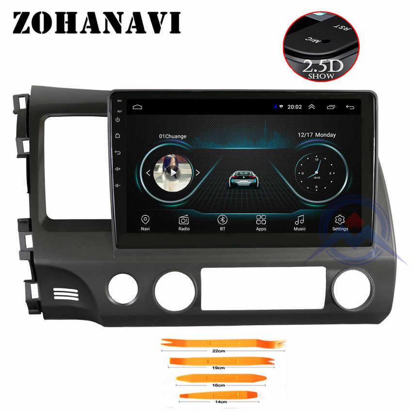 ZOHANAVI 10,2 pulgadas coche magnitol radio casete para Honda civic 2008 2011 2009 reproductor Multimeida coche radio gps android con wifi