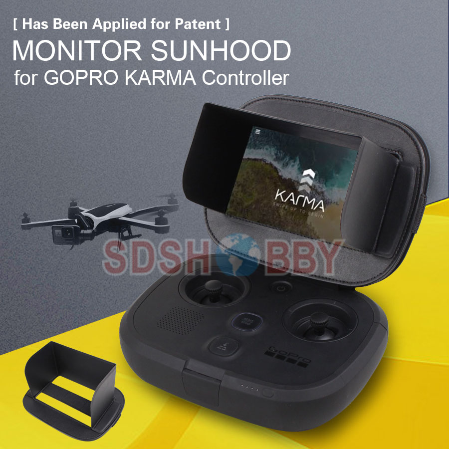 Sunnylife Monitor Sun hood Screen Sunshade for GOPRO KARMA Drone Remote Controller 1 pc phone hood monitor hood for rc monitor drone phone shading sun accessories