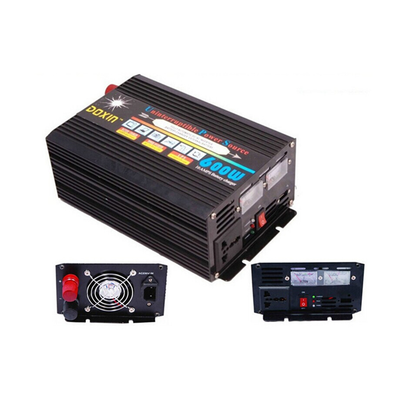 цена на DC12V/24V to AC220V UPS Power Inverter 50HZ 600W Modified Sine Wave Inverter With 10A Battery Charger