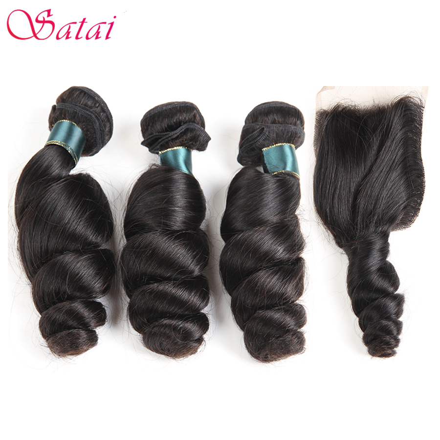 Aliexpress Com Buy Satai Brazilian Loose Wave 3 Bundles