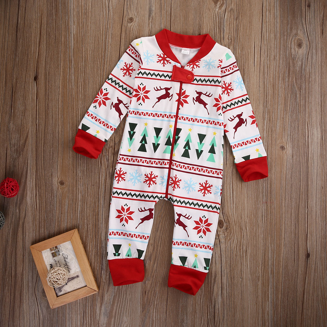 Winter Fall Baby Boy Girl Long Sleeve Xmas Zipper Casual Romper Jumpsuit Pajamas Baby Christmas One Piece Suit Hot best selling korea natural jade heated cushion tourmaline health care germanium electric heating cushion physical therapy mat
