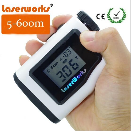 Handheld laser font b rangefinder b font 600 meters waterproof outdoor golf range finder binoculars Monocular