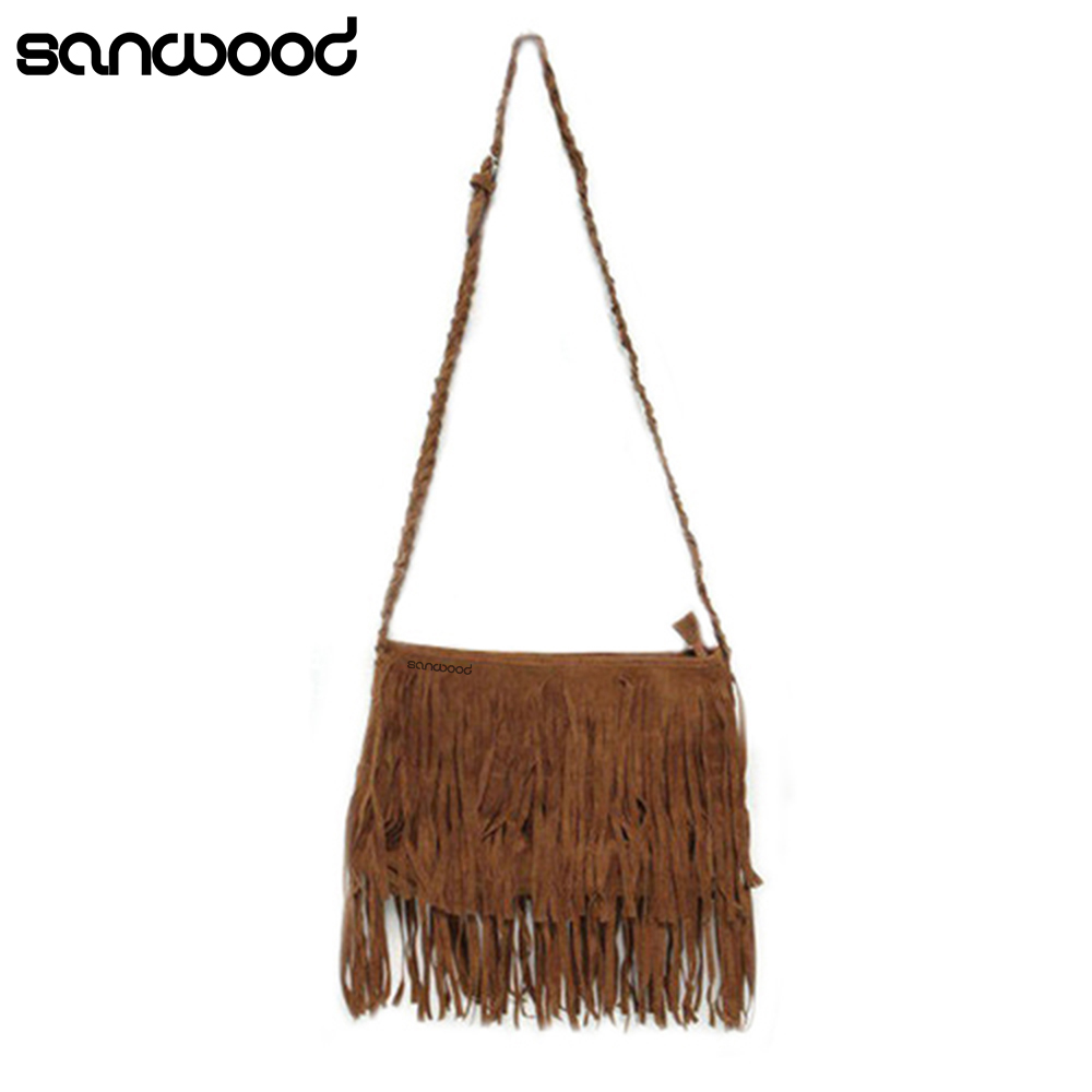Women Fringe Tassel Suede Messenger Bag Shoulder Bag Satchel Bag Retail/Wholesale 73L4Women Fringe Tassel Suede Messenger Bag Shoulder Bag Satchel Bag Retail/Wholesale 73L4