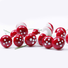 10pcs/set Mini Red Mushroom Garden Ornament Miniature Plant Pots DIY Little Garden Decor Micro Landscape Resin Accessories