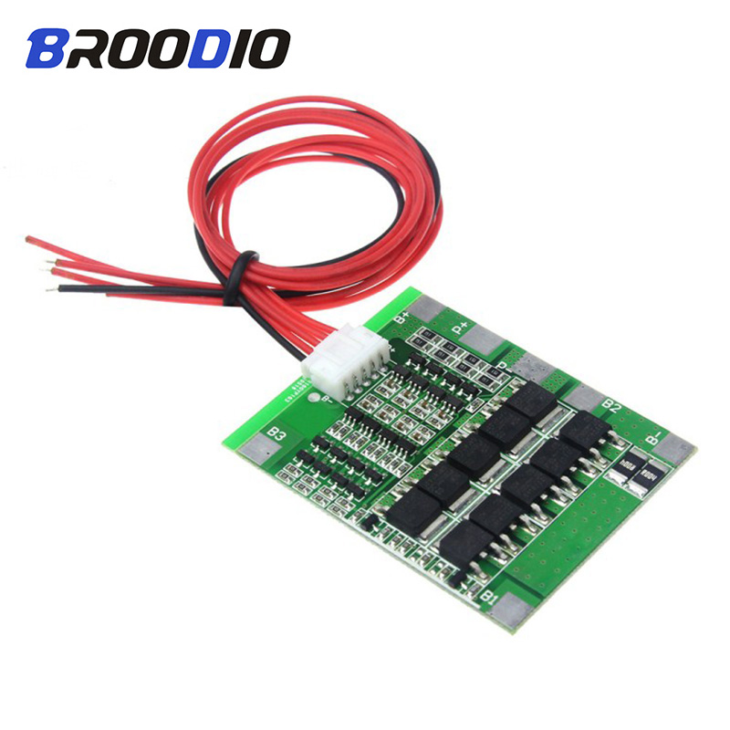 4S BMS 30A 14.8V lto 18650 Li-ion Lithium Battery Protection Circuit Balancer Equalizer board Balance BMS 4S Charging Balancing image