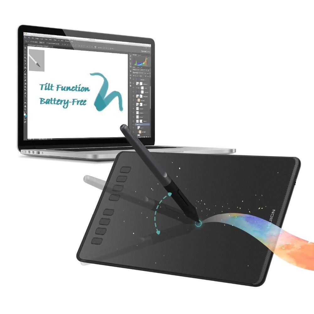 HUION H950P tablette de dessin graphique sans batterie Support d'inclinaison tablette de stylo numérique avec 8192 niveaux de pression et gant de dessin