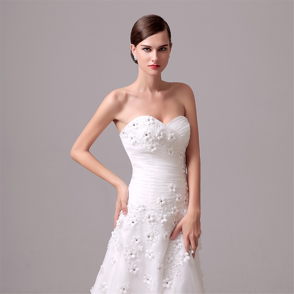 GSBRIDAL Two In One Lace Border Bridal Wedding Gown-in Wedding ...