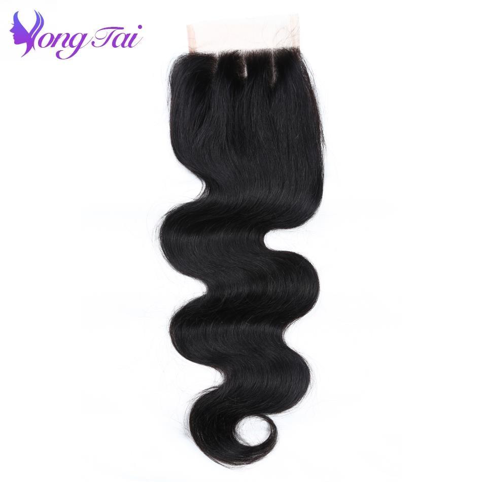 Yongtai Brazilian Hair Closure Body Wave Hair Closure 4 4 100 Human Hair Lace Closure 10