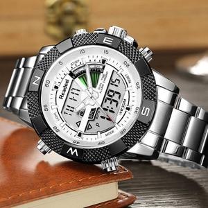 Image 3 - Men Sports Wrist Watch Mens Military Waterproof Watches Men Full Steel LED Digital Watch Clock Male reloj hombre 2018 READEEL