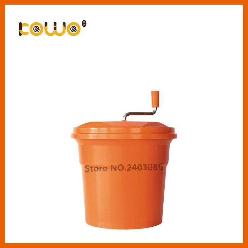 High quality orange colour manual press kitchen tools 25 liter Plastic PP fruit Vegetable Salad Spinner and slicer for sale цена 2017