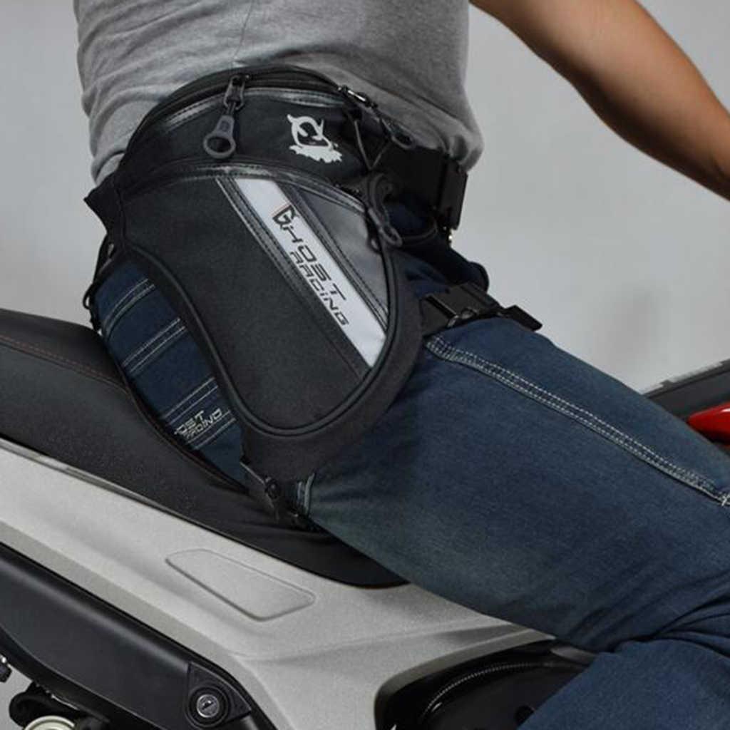 Männer Taille Pack Bein Drop Taschen Motorrad Crossbody Messenger Schulter Gürtel Bum Männlichen Hüfte Geldbörse Motorrad Drop Bein Taille Tasche