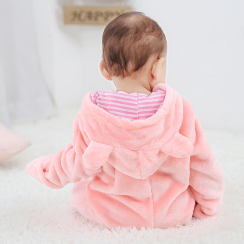 HTB1jUtteBKw3KVjSZTEq6AuRpXaU Baby Rompers Winter Warm Longsleeve Coral Fleece Newborn Baby Boy Girl Clothes Infant Jumpsuit Animal Overall Pajamas