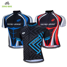 ZEROBIKE 100% Polyester Quick Dry Cycling Jerseys 2017 Outdoor Mountain Bike Cycling Clothing for Men Sportswear M-XXL