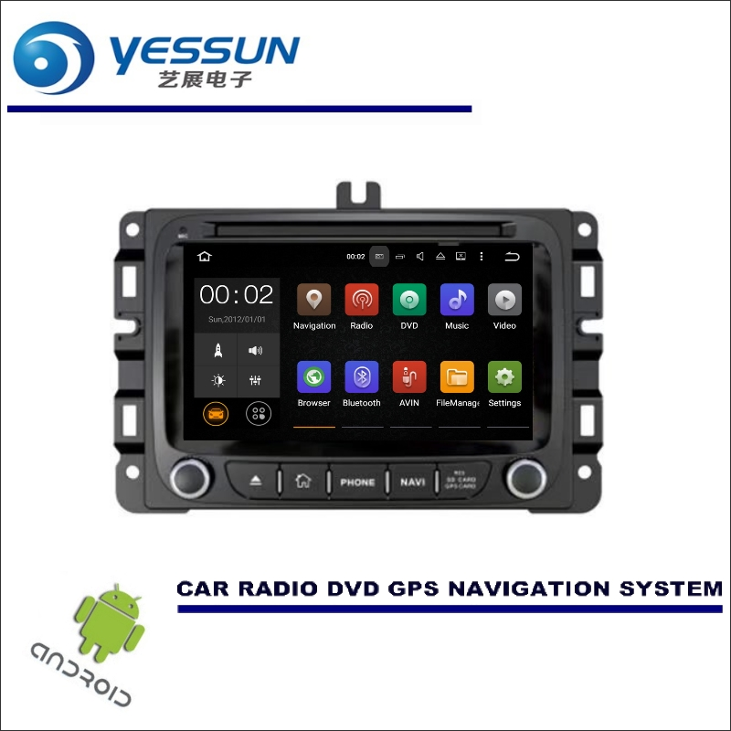 YESSUN Wince / Android Car Multimedia Navigation System For JEEP Renegade 2015~2017 CD DVD GPS Player Navi Radio Stereo HD yessun car navigation gps android for jeep renegade 2016 2017 audio video hd touch screen stereo multimedia player no cd dvd