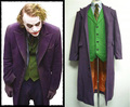 Batman Dark Knight Joker Halloween Party Adult Costume Long Trench Wool Coat + Shirt + Vest + Tie