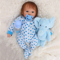 Baby reborn silicone dolls toys 1946cm fake baby newborn boy toddler doll for child xmas gift bebes reborn menino brinquedos