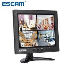 Escam 8-дюймовый TFT ЖК-Монитор с VGA HDMI AV BNC USB для Камеры Безопасности CCTV Монитор ПК Монитор PAL/NTSC Система Аудио вход