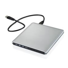 [Écrivain/Blu-ray Externe] Ultra Mince 3D Blu-ray Lecteur Portable Externe USB 3.0 Lecteur/Graveur BD-RW Pour MacBook Pro
